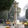 Kríž na starom cintoríne. Najstarší kríž na cintoríne vLužiankach (1776, obnovený vr. 2004)